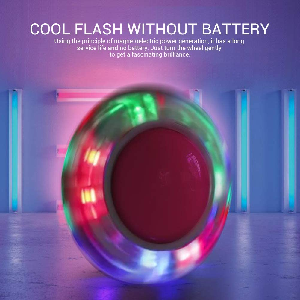 Kappha Bola de Salto Brillante LED Flash Jump Foot Force Ball Deportes al Aire Libre Fitness Toy para ni/ños Adultos Ni/ño