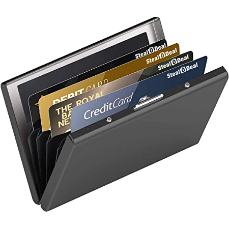 Stealodeal Black Special Edition Metal Debit/Credit Card Holder