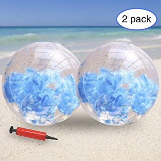 Holidays Parts3A Beach Ball for Parties Beach Balls Inflatable 16 inch 24 inch Pool Water Toys 2pc
