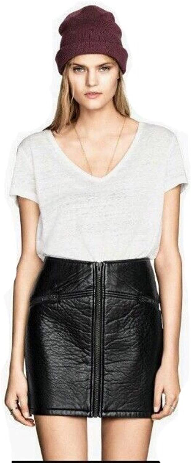 Divided Womens at HM Vegan Leather Mini Skirt, Black 4