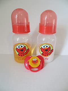 Reborn Baby Doll Bottle 5oz Elmo Set Bottle Fake Milk + Fake Juice Pacifier Elmo with Putty Baby Doll Prop Not a Toy Ages 8 Years +