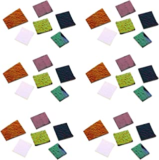 Baoblaze 168g/Pack Fusible Glass Scraps Jewelers Mixed Dichroic Glass Pieces COE 90