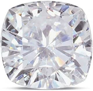 Cushion Moissanite by Charles and Colvard 81 Facet Loose Stone, Very Good Cut