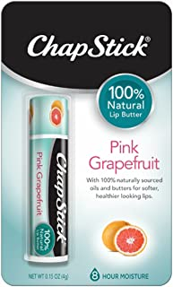 ChapStick 100% Natural Lip Butter Carded Pack, Pink Grapefruit, 0.15 Ounce