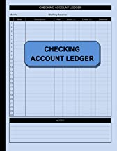 Checking Account Ledger: Check and Debit Card Register 100 Pages 2,400 Entry Lines Total: Size = 8.5 x 11 Inches (Simple Ledger) PDF
