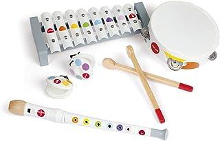 Janod - Set Musical 4 Instruments en Bois Confetti - Instrument de Musique Enfant - Jouet d'Imitation et d'Éveil Musical -...