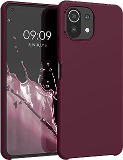 kwmobile telefoonhoesje compatibel met Xiaomi Mi 11 Lite (5G) - Hoesje met siliconen coating - Smartphone case in wijnrood