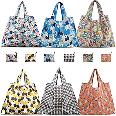Reusable Grocery Bags, TEOYALL 3 Pack Eco Friendly Large Foldable Grocery Tote Bag Heavy Duty Washable Shopping Bags