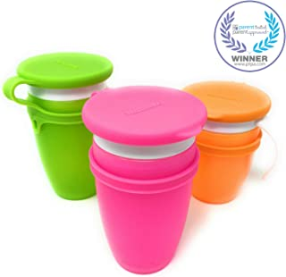 Koaii Baby Custom Replacment Lids Compatible for All Munchkin Miracle 360 Cups. More Color Combinations Available. Set of Three in Pink, Orange & Green.
