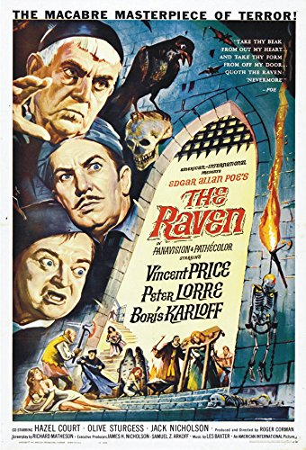 The Raven, Vincent Price, Boris Karloff, Movie, Poster Art, Souvenir Magnet 2 x 3 Fridge Magnet