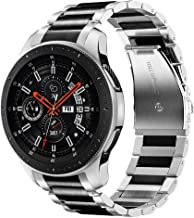 V-MORO No Gaps Metal Strap Compatible with Galaxy Watch 46mm Bands/Gear S3 Frontier Band..