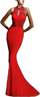 Vestido rojo para fiesta de dia corto, tirantes, palabra de honor