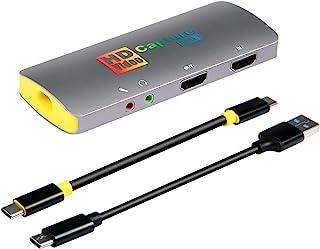 Basicolor3217 4K キャプチャーボード switch PS4 PS5 Xbox Wii U ウェブカメラ PS3に対応、4K@60fps キャプボ、USB3.1 キャプチャー ボード、HDMI キャプチャボード、HDMI パススル...