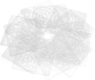 YINETTECH - Juego de 13 Plantillas de Mandala para Pintar en la Pared