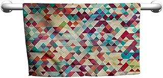 Bensonsve Premium Abstract Triangle,Colorful Diamond,freestanding Towel Racks for Bathroom