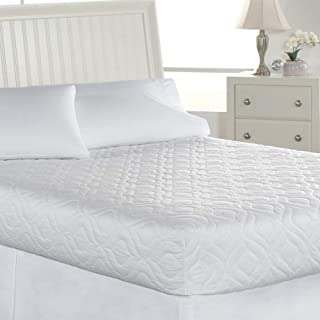 Mattress Topper. Soft Quilted Pad Mat Pillow, Plush Layer of Fiber Fill for Healthy Sleep. Olefin Fabric Firm Protection Cover, Protects Bed from Water, Stains. Comfort Machine-wash & Dry (Twin XL)