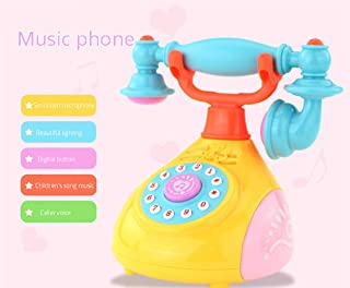 Emob® Kids Retro Style Landline Telephone Musical Phone Toy with Light and Sound Effects
