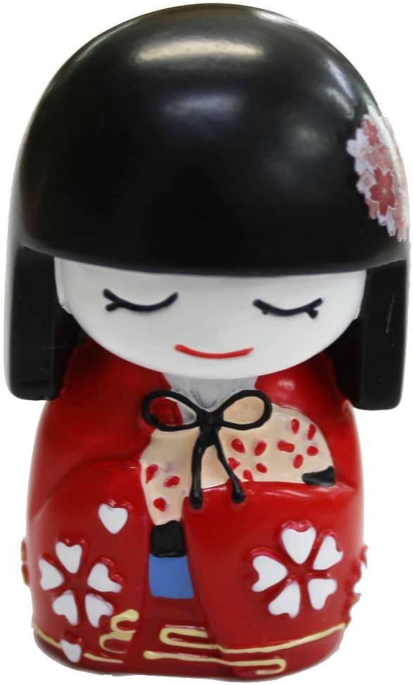 NN Find depot Japan Japanese Doll Mai safety Kokeshi Red