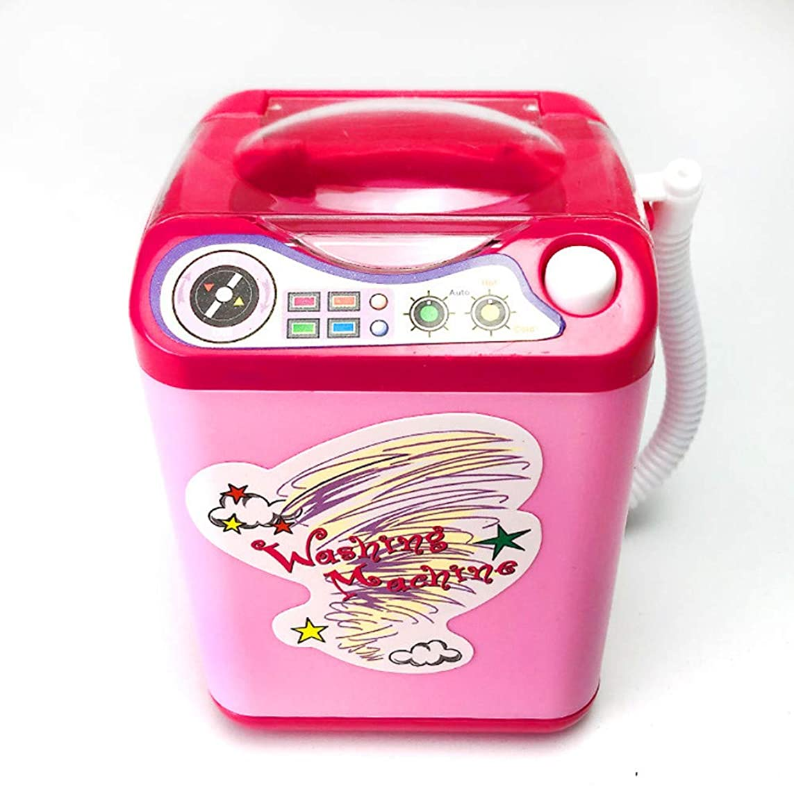 四分円リングレットハロウィンCZHomeの構造のブラシクリーナー装置の自動クリーニングの洗濯機の小型おもちゃ、超柔らかい空気クッションのパフ/化粧卵の粉のパフ/子供のシミュレーションの教育おもちゃ (ライトピンク)