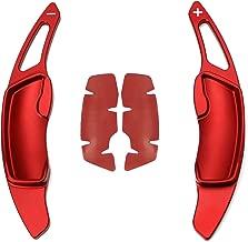 iJDMTOY Aluminum Steering Wheel Paddle Shifter Extensions For Subaru BRZ Impreza WRX Legacy XV Crosstrek Red Matte Finish)