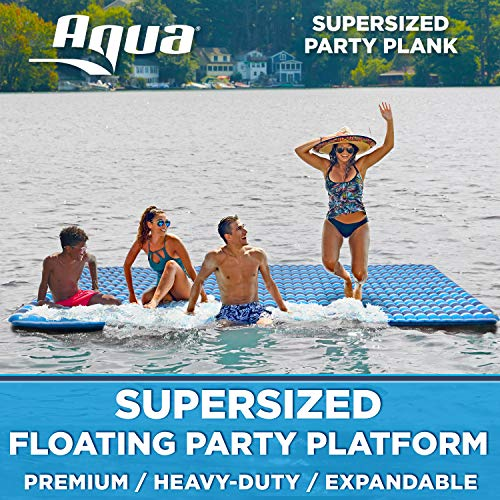 Aqua Expandable Floating Island, Lake Raft, Water Mat, Inflatable Lake-Ocean-Pool Float, 1, 000 Lbs....