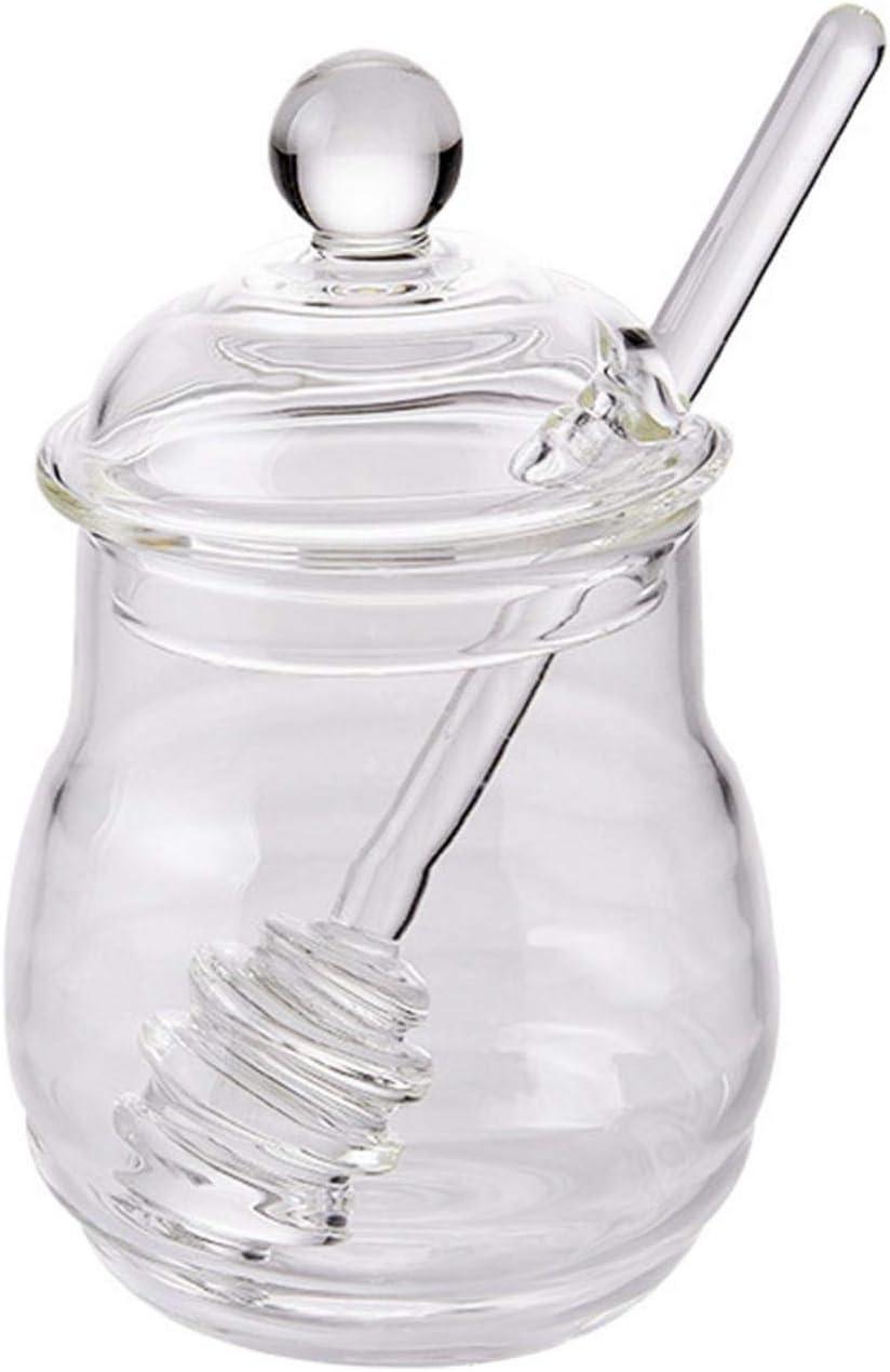 lolly-U Sacramento Mall Glass Honey San Diego Mall Pot with Safe 300ml SticksCherryLee Du