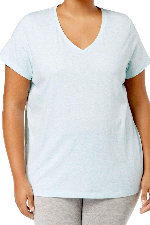 Jacksonville Mall Hue Plus Size V-Neck Aqua Pajama Top Free shipping on posting reviews Heather