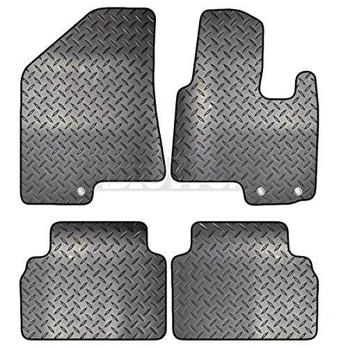 with DELUXE Carpet 4-Piece Set Lusso Floor Carpet Mats for Car Front /& Rear with Heel Pad Black Edging Tailored//Compatible to Fit Hyundai ix35 2010-2016