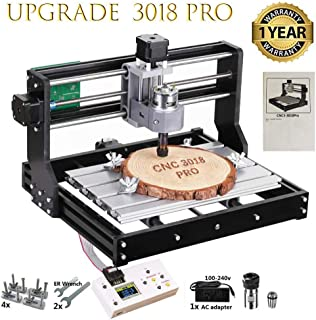 CNC 3018 Pro GRBL Control DIY Mini CNC Machine, 3 Axis PCB Milling Machine, Wood Router Engraver with Offline Controller, with ER11 and 5mm Extension Rod