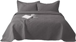 MEILISAY Harper Velvet King Size Quilt Bedding Set 3 Piece Bedding Quilt Coverlets–Velvet with 90% Cotton Filling Bed Quilts Quilted Coverlet BD001,(King,Grey)
