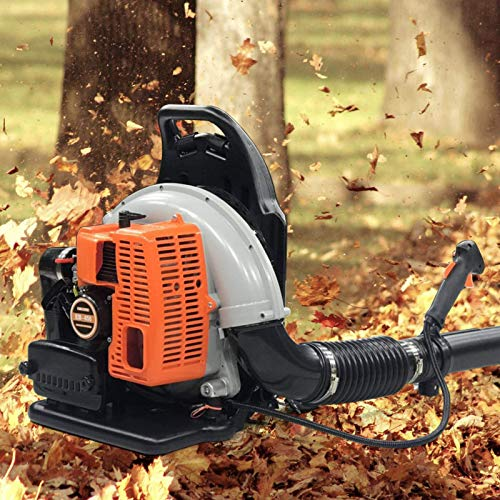 DYRABREST 65CC 3.6HP 2-Stroke Multi-Use Backpack Powerful Leaf Blower Snow Blower High Wind Speed Air Cooling Single Cylinder 2,7 Kw 6800 RPM (Leaf Blower (Upgraded))