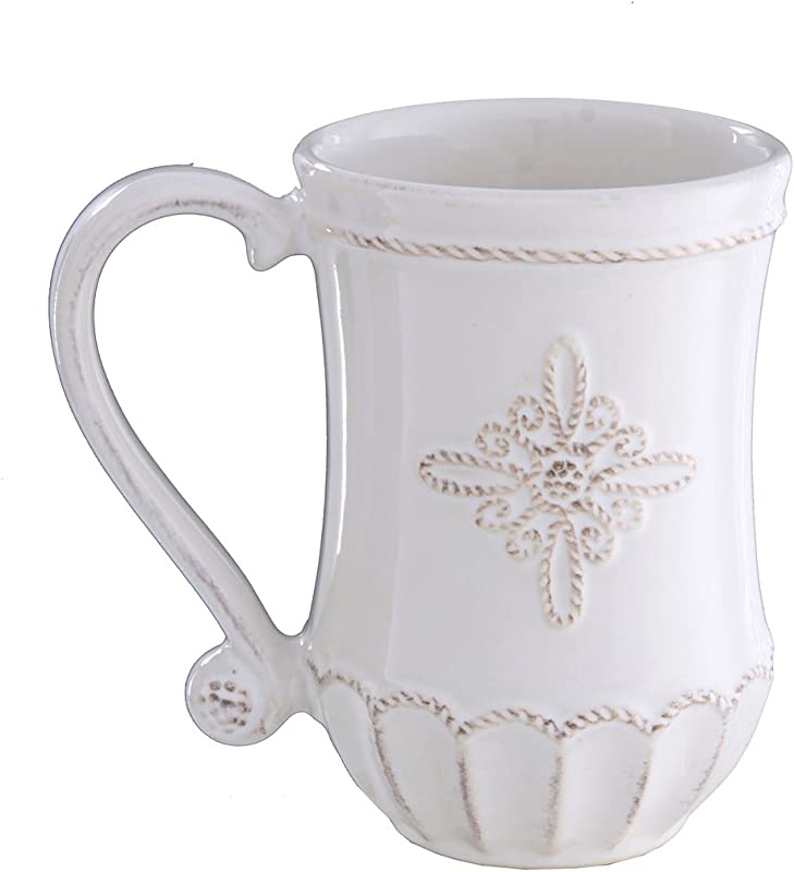 Juliska Jardins White Mug