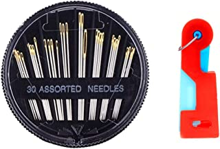 Assorted Hand Sewing Needles,30-Count needles Set Together with A Plastic Needle Threaders