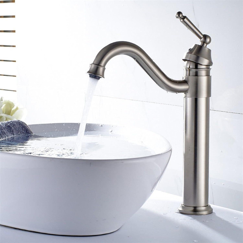 Gyps Faucet Basin Mixer Tap Waterfall Faucet Antique Bathroom Mixer Bar Mixer Shower Set Tap antique bathroom faucet The copper-nickel brushed bathroom basin faucet elbow out of the water to redate th