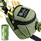 BRIVILAS Dog Poop Bag Holder for Leash,4 Ways to Wear,Doggy Waste Bag Dispenser with Treat Training Pouch – Easily Carries Keys, Coins, Pet Kibble, Treats.(Green)