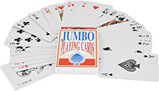 Home-X Jumbo Playing Cards   3.5 x 5 Inch Plastic Coated Cards - by