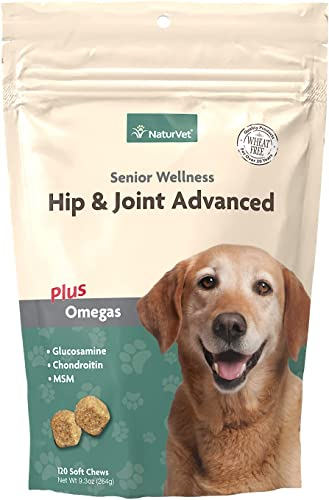 high quality NaturVet – Senior Wellness Hip & Joint Advanced outlet online sale Plus Omegas – Help Support Your online sale Pet's Healthy Hip & Joint Function – Supports Joints, Cartilage & Connective Tissues online sale
