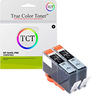 TCT Compatible Ink Cartridge Replacement for HP 564XL 546 XL Photo Black Works with HP Photosmart 5511 5512 5514 5515 5520 5522 5524 5525 Printers (290 Pages) - 2 Pack