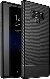 Galaxy Note 9 Case, Carbon Fiber Design TPU Ultra Thin Flexible Cover Shock Absorption Scratch Proof Anti-Slip Protective Case Cover for Samsung Galaxy Note 9