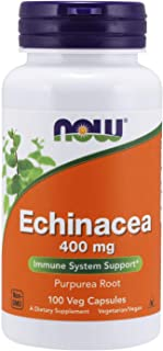 NOW Supplements, Echinacea (Purpurea Root) 400 mg, Immune System Support*, 100 Veg Capsules