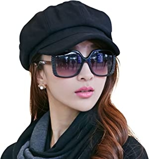 SIGGI Womens Visor Beret Newsboy Hat Cap for Ladies Merino Wool