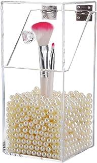 Acryl Make Up Borstelhouder Organizer, Doorzichtige Waterdichte Grote Capaciteit Cosmetica Borstel Opbergdoos met Deksel e...