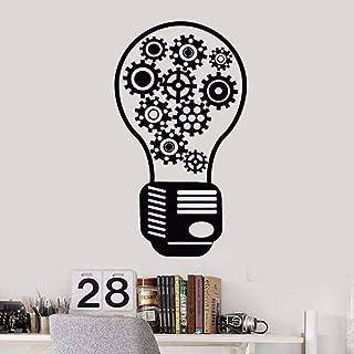 Vinyle Sticker Amovible Engrenage Lumière Décor Motivation Bureau Style Autocollants Bureau Mur Art Décoration Murale Déco...