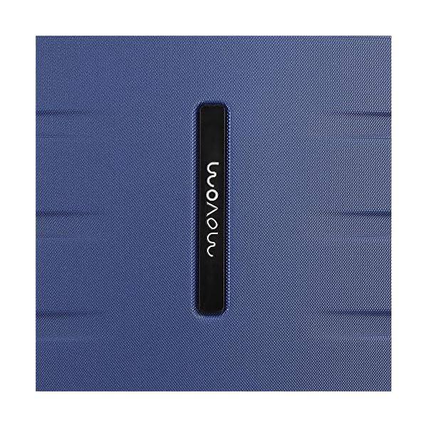 61qFoLkkCBL. SS600  - Movom Turbo Maleta de cabina Azul 40x55x20 cms Rígida ABS Cierre combinación 37L 2,7Kgs 4 Ruedas dobles Equipaje de Mano