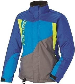 Polaris New OEM Women's Snowmobile Diva Jacket Large Blue/Lime, 286773406