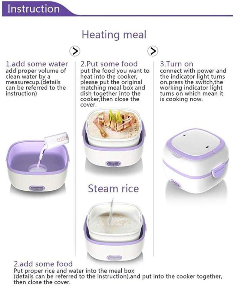 Articles ménagers MI 3 tasses (cuit) (1,5-Cup CRUE) Mini Rice Cooker (Couleur: Orae) kyman (Color : Orange) Purple