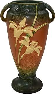 Roseville Pottery Zephyr Lily Brown Vase 141-15