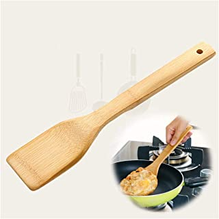 Wooden Spatula for Cooking, Wood Turner, Kitchen Cookware Utensils, Reusable Wood Spatula with Long Handle, Natural Bamboo Stir Fry Spatulas, Cooking Serving Tool, Versatile, Durable, Healthy (1PCS)