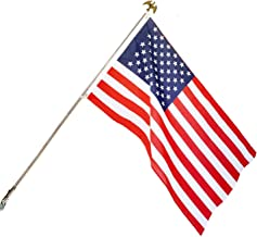 GiftExpress Proudly Made in USA, American Flag Kit 3x5 Ft Flagpole Set, 6 Ft Steel Pole + American Eagle Finial + Bracket ...