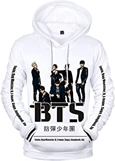 EmilyLe Women's Hoodies with BTS Bangtan Boys 3D Printed Group Photo